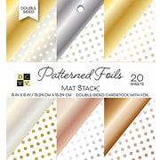 "American Crafts DCWV Cardstock Paper, 6"" x, 6"", Patterned Foils, 6 Designs Double-Sided Stack, 20/Pack (PS006105)"