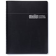 """2020 House of Doolittle 8.5"""" x 11"""" Weekly/Monthly Tabbed Planner, Black/Blue (HOD28302)"""