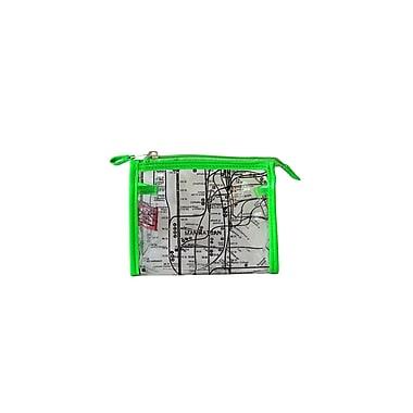 New York City Subwayline Clear Map Cosmetics Case, Green