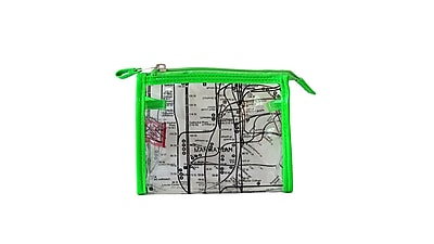 New York City Subwayline Clear Map Cosmetics Case, Green