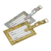 New York City Subwayline Map Luggage Tags, Silver and Gold, 6/Pk
