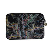 "New York City Subwayline Map Neoprene Case for 11.9"" Laptops, Black"