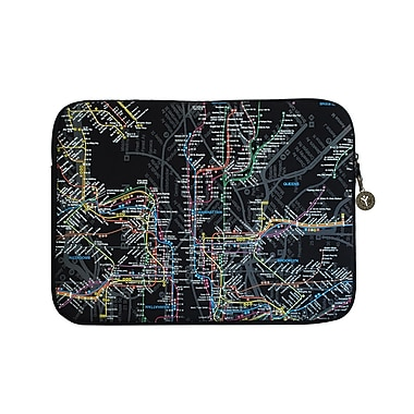 New York City Subwayline Map Neoprene Case for 15.9