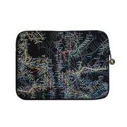 "New York City Subwayline Map Neoprene Case for 15.9"" Laptops, Black"
