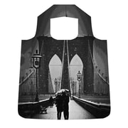 New York City Subwayline Brooklyn Bridge Shoppers Tote, Silver