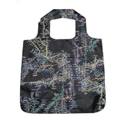 New York City Subwayline Subway Map Shoppers Tote, Black