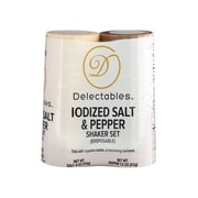 Del Disposable 4 oz Salt and 1.5 oz Pepper Shaker Combo Set, Pack of 2 (GRN13060)
