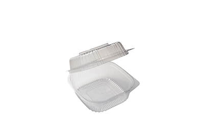 BioGreenChoice Compostable PLA Take Out Container, Clear, 6