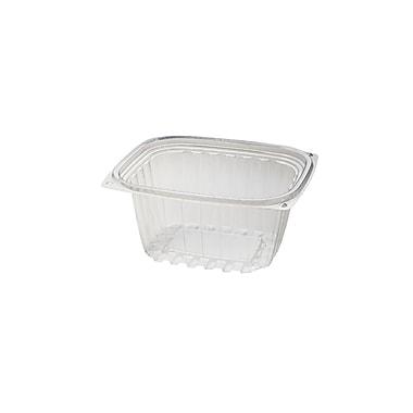 BioGreenChoice 16 oz. Compostable PLA Rectangle Deli, Clear, 5.9