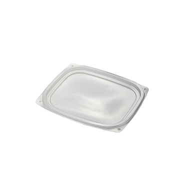 BioGreenChoice 8/12/16 oz. Clear Compostable PLA Rectangle Deli Lid, 900/Case