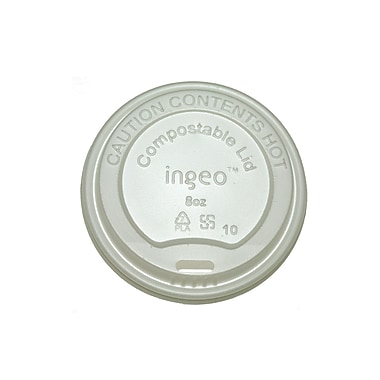 BioGreenChoice White Compostable Hot Paper Cup Lids