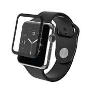 Zagg InvisibleShield Glass Luxe for the Apple Watch 3 Series, 38mm, Full Screen, Black (20010300)