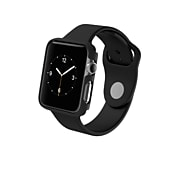 Zagg InvisibleShield Luxe Protective Bumper Case for Apple Watch 3 Series, 42mm, Black (A42WBS-SG0)
