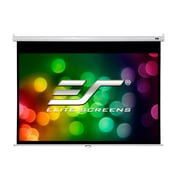 "Elite Screens Manual Pull Down Projector Screen, 100"", White"