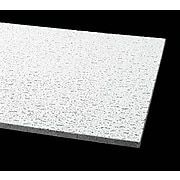 Armstrong Fissured Square Lay In 2'x4' Ceiling Tile, White, Pack of 12 (755B)