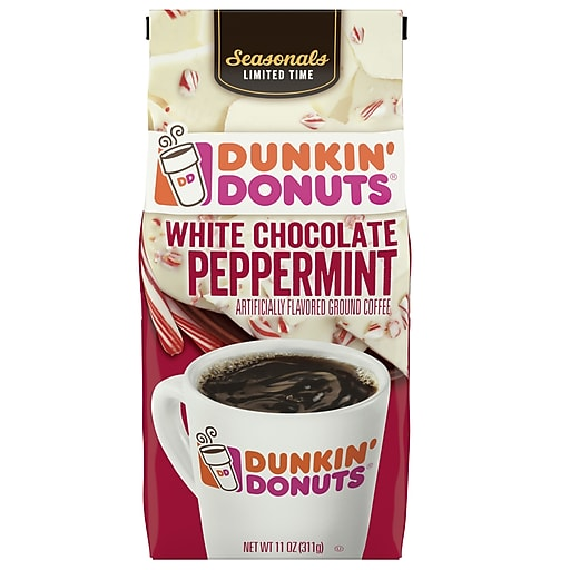 Dunkin Donuts White Chocolate Peppermint Flavored Coffee (SMU40065)