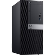 Dell OptiPlex 7060 GH6JJ Desktop Computer, Intel Core i7-8700, 500GB HDD, 8GB RAM, Windows 10 Pro, AMD Radeon RX 550