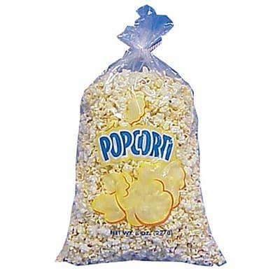 Gold Medal 2555 Value Size Popcorn Bag, Plastic, 1000/carton