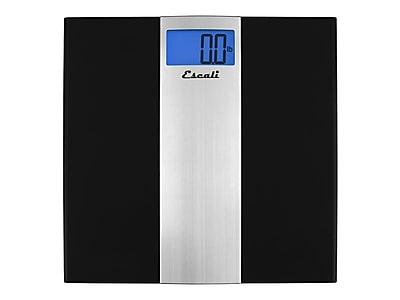 Escali US180B Bathroom Scale, Black, 400 lbs. Capacity
