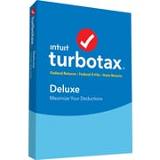 TurboTax Deluxe Fed + Efile + State 2018 for 1 User, Windows, Disk (606067)
