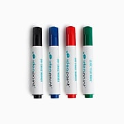 IdeaPaint Bullet Tip Dry Erase Markers, Assorted Colors, 4/Pack (ACDM040010)