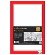 """Seco Snap Frame, 11"""" x 17"""", Red (SN1117)"""