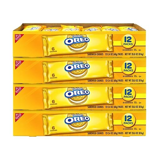 OREO Golden Sandwich Cookie, 48 Count (304-00107)