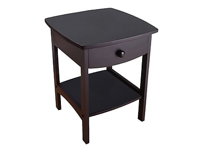 """Winsome Claire 18""""W x 18""""D Accent Table, Black (20218)"""