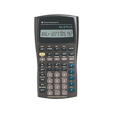 Texas Instruments BA II PLUS 10 Digit Financial Calculator