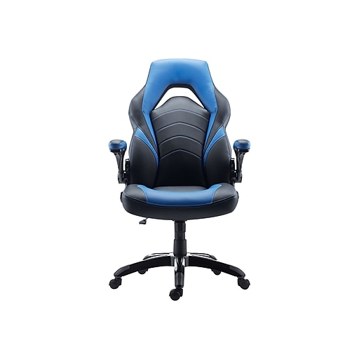 Staples Blue51464 Cc Bonded Racing And Gaming Leather ChairBlack rxodCBe