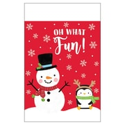 """Amscan Christmas Snowy Friends Plastic Table Covers, 54"""" x 102"""", 3 Pack (572197)"""