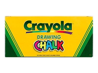 Crayola Drawing Chalk, Multicolor, 144/Box (51-0400)