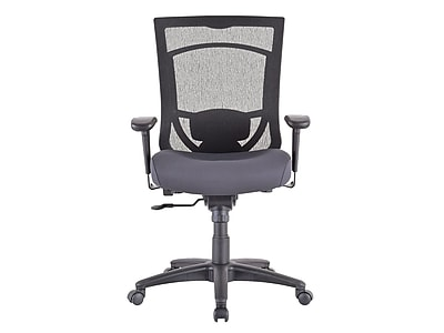 Tempur-Pedic TP7000 Mesh Back Fabric Task Chair, Black and Agate Gray (TP7000-AGATE)