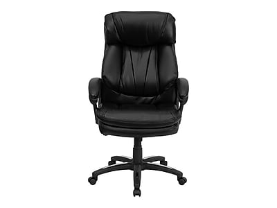 Flash Furniture Faux Leather Back Leather Executive Chair, Black (GO1097BKLEA)