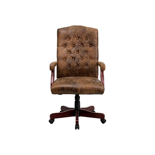 Flash Furniture Er Fabric Executive Chair Rustic Brown 802brn
