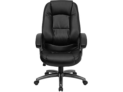 Flash Furniture Faux Leather Executive Chair, Black and Smoked (GO7145BK)