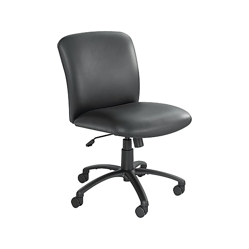 Groovy Safco Uber Vinyl Computer And Desk Chair Black Vinyl 3491Bv Beutiful Home Inspiration Aditmahrainfo