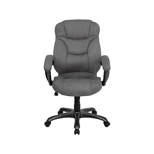 Flash Furniture Plastic Executive Chair, Gray and Titanium (GO725GY)
