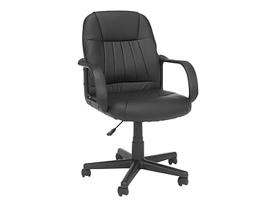 OFM Essentials Leather Executive Chair, Black (845123032411)