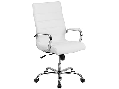 Flash Furniture Faux Leather Executive Chair, Gray and White (GO2286HWH)