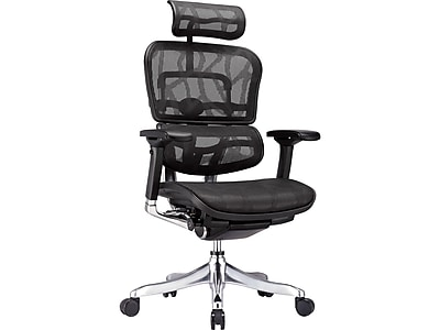 Raynor Marketing Ergo elite Leather Task Chair, Black (ME22ERGLT-BLK)