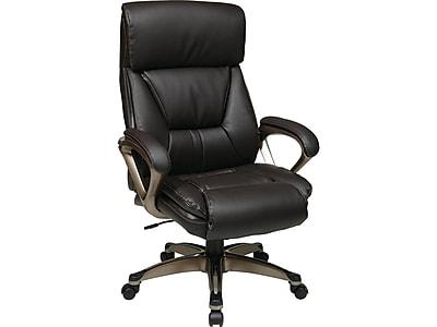 Office Star ECH Series Leather Executive Chair, Espresso (ECH89301-EC1)