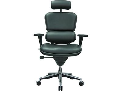 Eurotech Leather Task Chair, Black (LE9ERG(N))