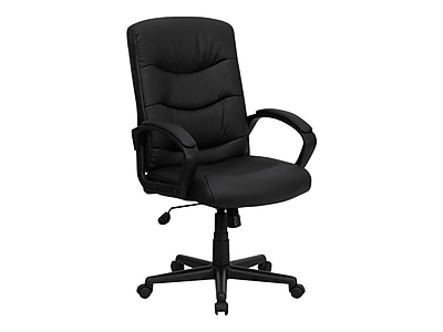 Flash Furniture Faux Leather Task Chair, Black (GO9771BKLEA)