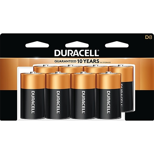 Duracell CopperTop Alkaline Battery, D, 8 Pack (MN13R8DW)