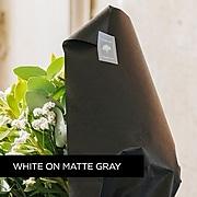 "Brother P-touch TZe-ML35 Laminated Tape, 1/2"", White Print on Premium Matte Gray"