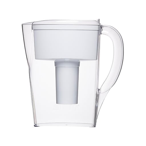 Brita Space Saver Small 6 Cup Water Pitcher with Filter, White (35250)