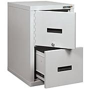 FireKing® FireShield 2-Drawer Vertical File Cabinet, Letter/Legal, Arctic White (2S1822-DDSSF)