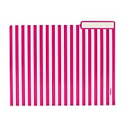 Poppin Classic Striped File Folder, Letter Size, Assorted Colors, 36/Pack (100140-MC)