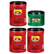 Folgers Classic Roast Ground Coffee , 48 oz. 3 Pack, and Decaf Ground Coffee, 22.6 oz. (FOLPK-STP)